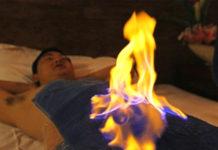 fire on body