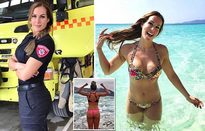 Female firefighter Gunn Narten