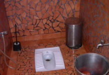 Toilet made according to Vastu shastra