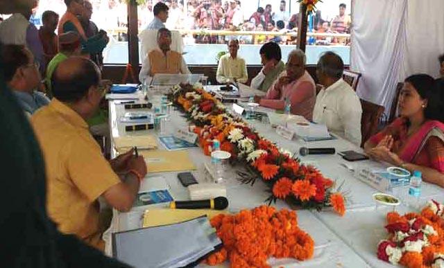 Cabinet meeting in Tehri Jheel