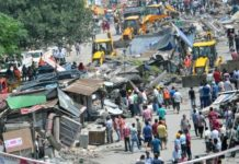 JCB again to demolish illegal construction in Premnagar