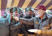 PM Modi celebrates Diwali with ITBP jawans
