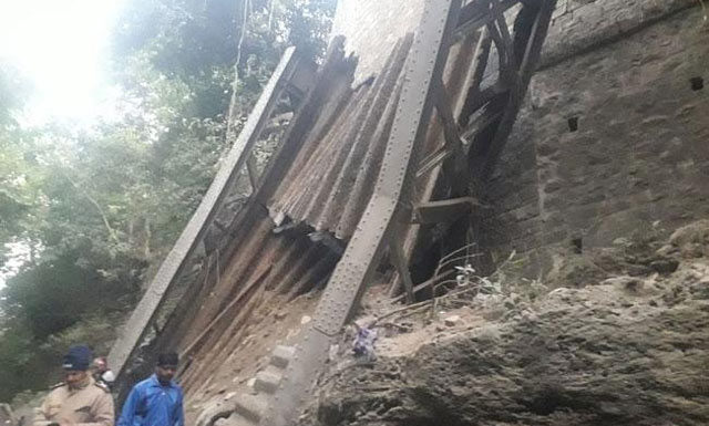 Bridge demolished in Birpur