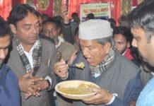 Mushroom and Khichadi sankrant party