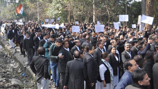 Nationwide strike of advocate